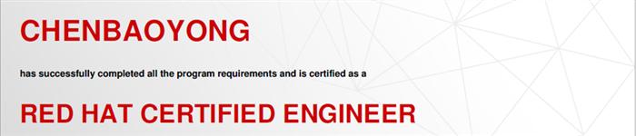 捷讯:陈宝永12月28日北京顺利通过RHCE认证。