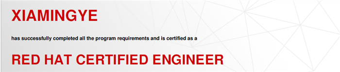 捷讯:夏明烨12月28日北京顺利通过RHCE认证。