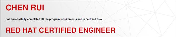 捷讯:陈锐1月22日上海顺利通过RHCE认证。