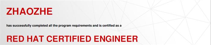 捷讯:赵哲1月20日北京顺利通过RHCE认证。