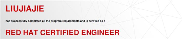 捷讯:刘嘉杰12月29日广州顺利通过RHCE认证。