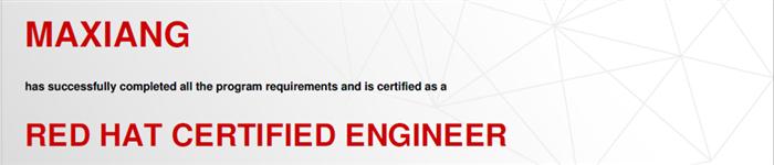 捷讯:马翔12月26日北京顺利通过RHCE认证。