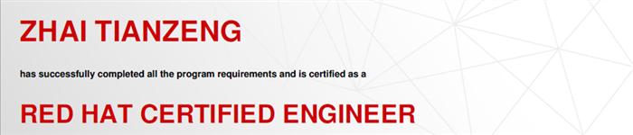 捷讯:翟天增12月28日北京顺利通过RHCE认证。