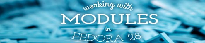 Fedora 28 中的模块