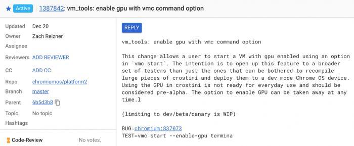 Chrome OS或将测试Linux应用的GPU支持Chrome OS或将测试Linux应用的GPU支持