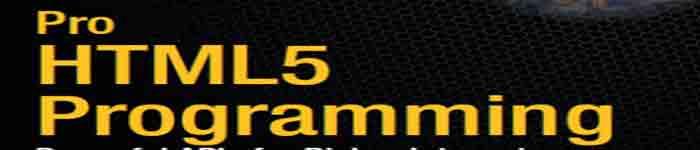 《Pro HTML5 Programming》pdf电子书免费下载