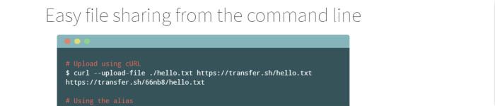 transfer.sh:通过命令行简单的创建文件分享