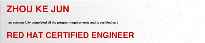 捷讯:周克钧3月14日北京顺利通过RHCE认证。
