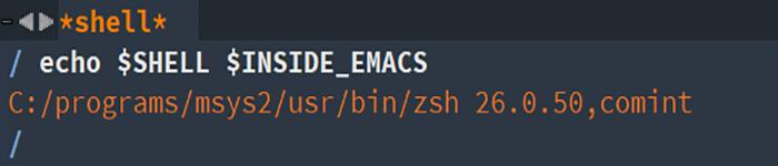 Windows 下 Emacs 中的 zsh shell 使用方法