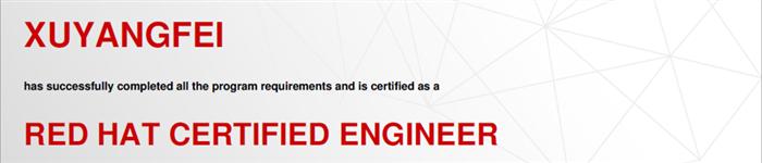 捷讯:许阳飞3月18日北京顺利通过RHCE认证。