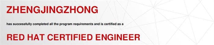 捷讯:郑晶众3月14日上海顺利通过RHCE认证。