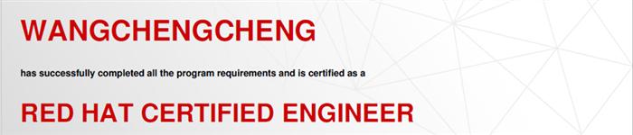 捷讯:王成成3月12日上海顺利通过RHCE认证。