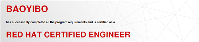 捷讯:包义柏3月14日深圳顺利通过RHCE认证。