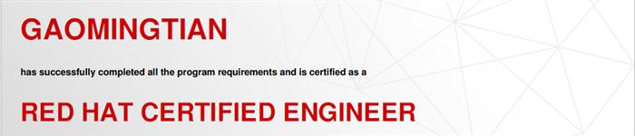 捷讯:高明天4月24日北京顺利通过RHCE认证。