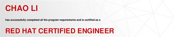 捷讯:李超4月25日北京顺利通过RHCE认证。
