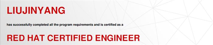 捷讯:刘晋阳4月24日北京顺利通过RHCE认证。