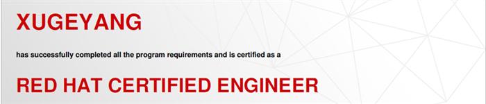 捷讯:胥歌扬4月24日北京顺利通过RHCE认证。