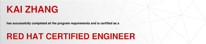 捷讯:张凯4月29日上海顺利通过RHCE认证。