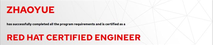 捷讯:赵越5月16日上海顺利通过RHCE认证。