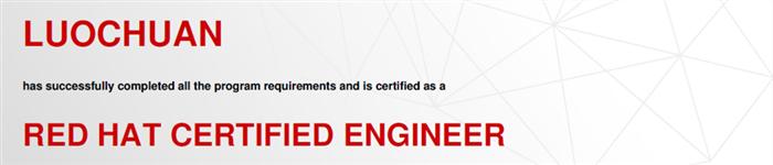 捷讯:罗川4月25日北京顺利通过RHCE认证。
