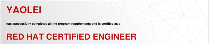 捷讯:姚蕾4月28日上海顺利通过RHCE认证。