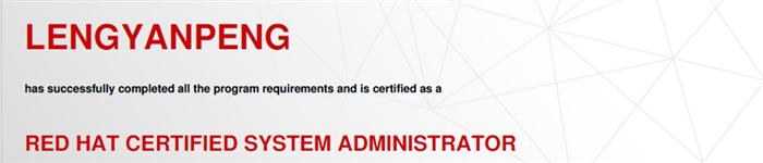 捷讯:冷延鹏4月25日北京顺利通过RHCE认证。