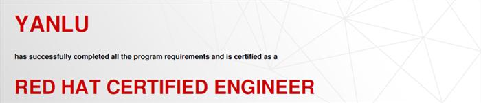 捷讯:闫璐4月25日北京顺利通过RHCE认证。