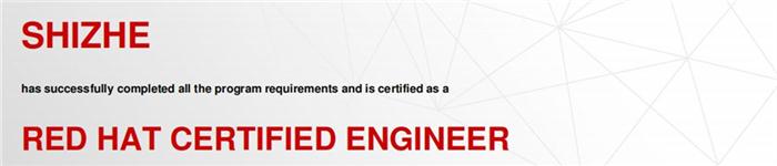 捷讯:师哲4月28日上海顺利通过RHCE认证。