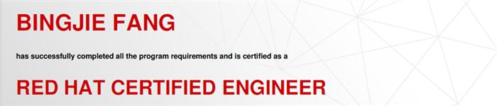 捷讯:方柄杰4月28日上海顺利通过RHCE认证。