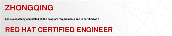 捷讯:钟庆4月25日北京顺利通过RHCE认证。