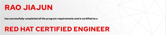 捷讯:饶佳俊5月10日深圳顺利通过RHCE认证。