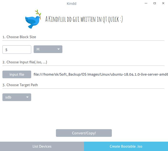 支持 dd 命令的简单的 GUI 实用程序支持 dd 命令的简单的 GUI 实用程序