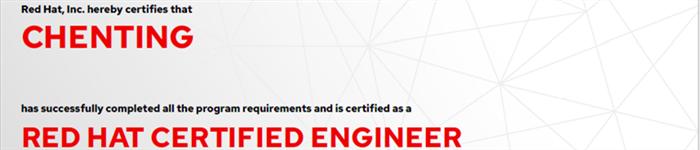 捷讯:陈挺6月24日广州顺利通过RHCE认证。