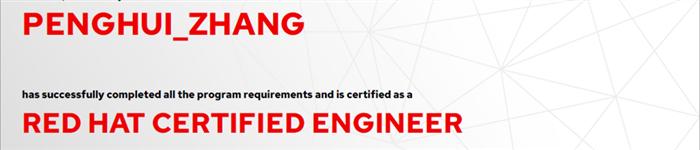 捷讯:张鹏辉6月6日上海顺利通过RHCE认证。
