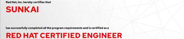 捷讯:孙凯6月26日北京顺利通过RHCE认证。