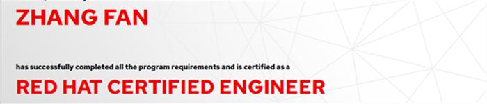 捷讯:张帆6月4日北京顺利通过RHCE认证。