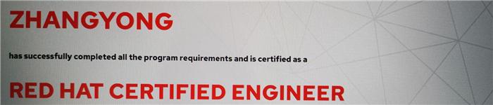 捷讯:张永5月27日广州顺利通过RHCE认证。