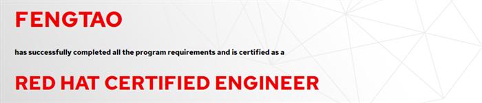捷讯:冯涛5月25日北京顺利通过RHCE认证。