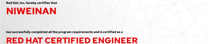 捷讯:倪伟南6月24日广州顺利通过RHCE认证。