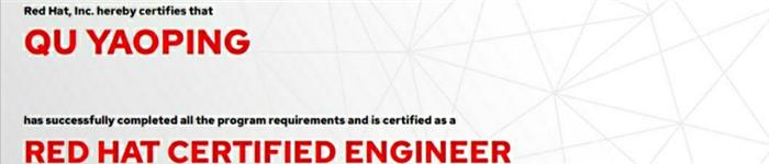 捷讯:翟耀平6月25日上海顺利通过RHCE认证。