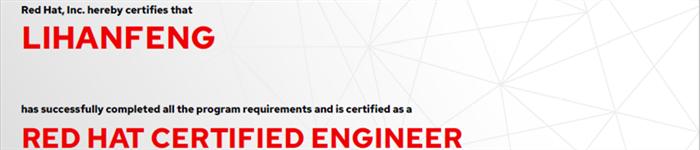 捷讯:李寒峰6月26日北京顺利通过RHCE认证。