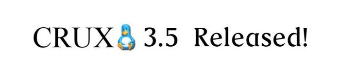 轻量级 Linux 发行版 CRUX 3.5 发布