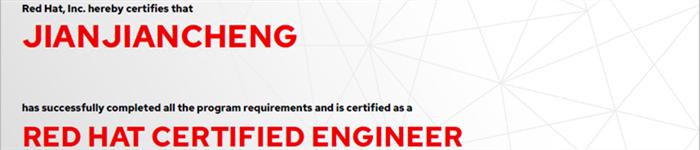 捷讯:简建成6月24日广州顺利通过RHCE认证。
