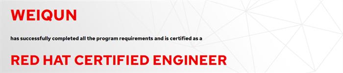 捷讯:魏群5月16日上海顺利通过RHCE认证。