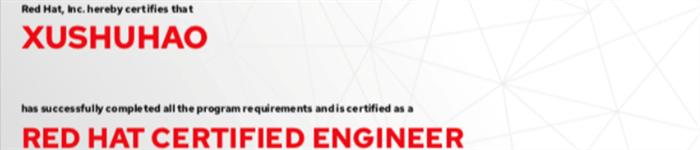 捷讯:许书豪6月26日北京顺利通过RHCE认证。