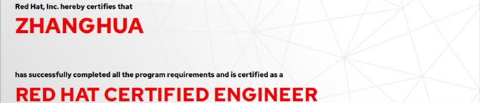 捷讯:张华7月8日深圳顺利通过RHCE认证。