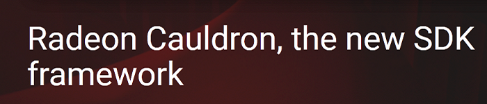 Radeon Cauldron 1.0发布