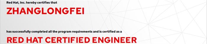 捷讯:张龙飞7月15日北京顺利通过RHCE认证。
