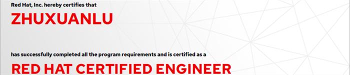 捷讯:朱炫录6月27日深圳顺利通过RHCE认证。