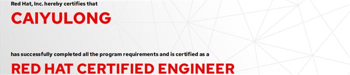 捷讯:蔡豫龙7月1日上海双满分通过RHCE认证。
